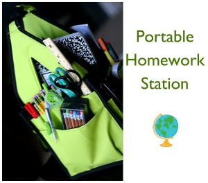 have supplies on hand that can be taken with you so your child can complete their homework on the move.
